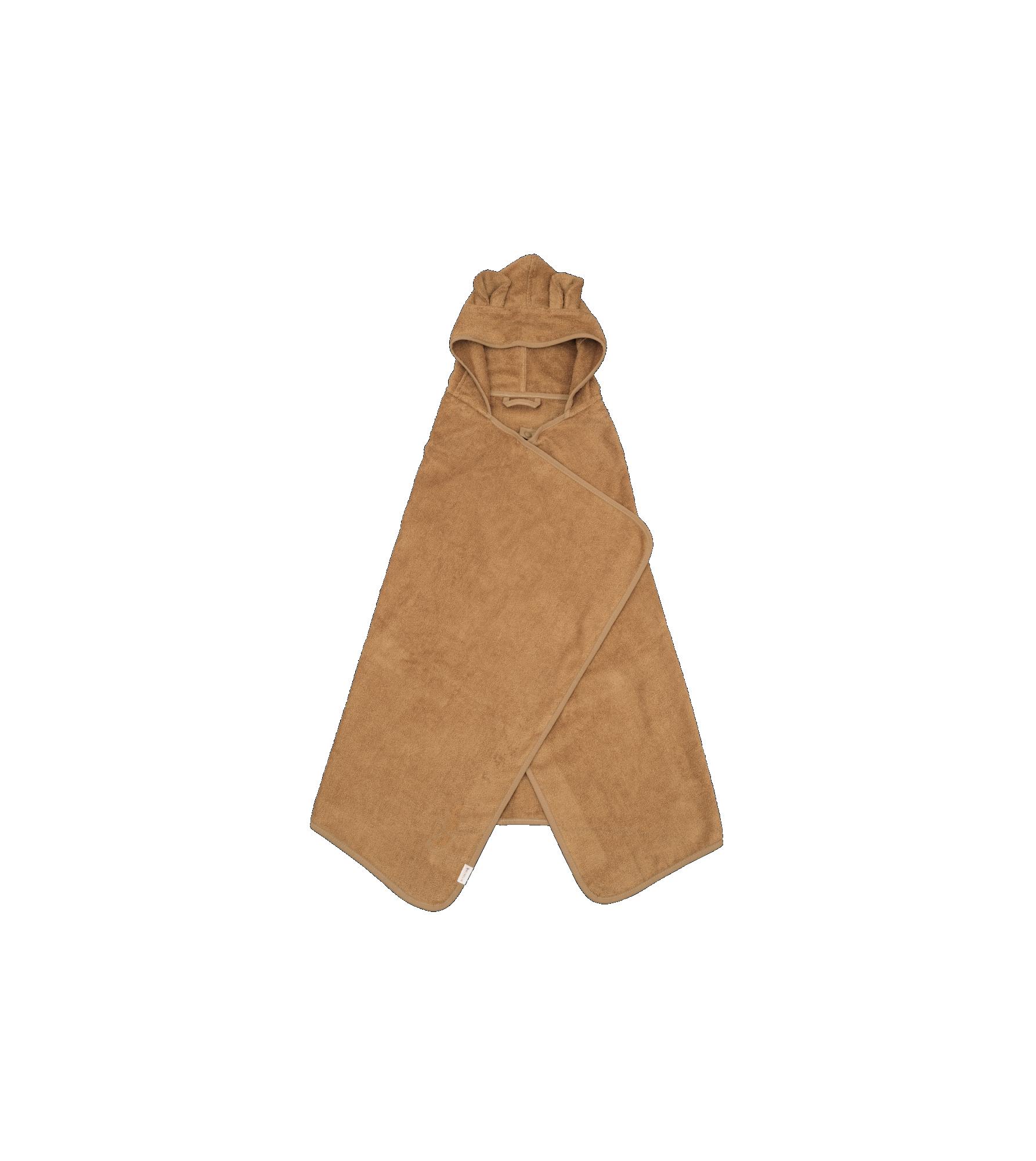 Hooded Junior Towel - Bear - Ochre (primary)_edit.png