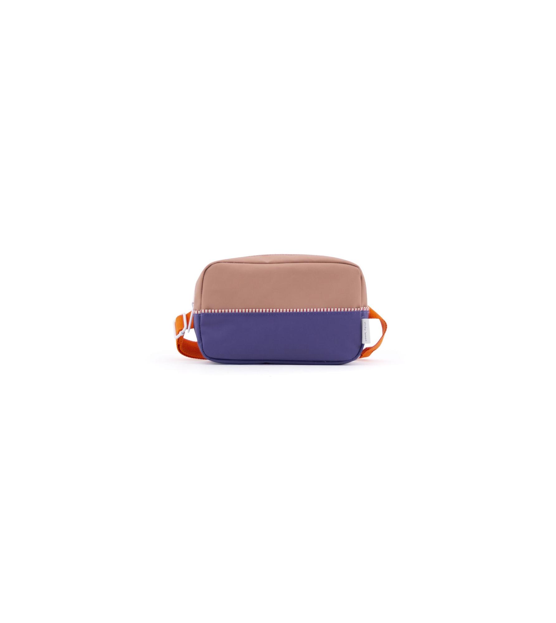 1801404 - Sticky Lemon - fanny pack large - colour blocking - chocolat au lait _ lobby purple _ .jpg