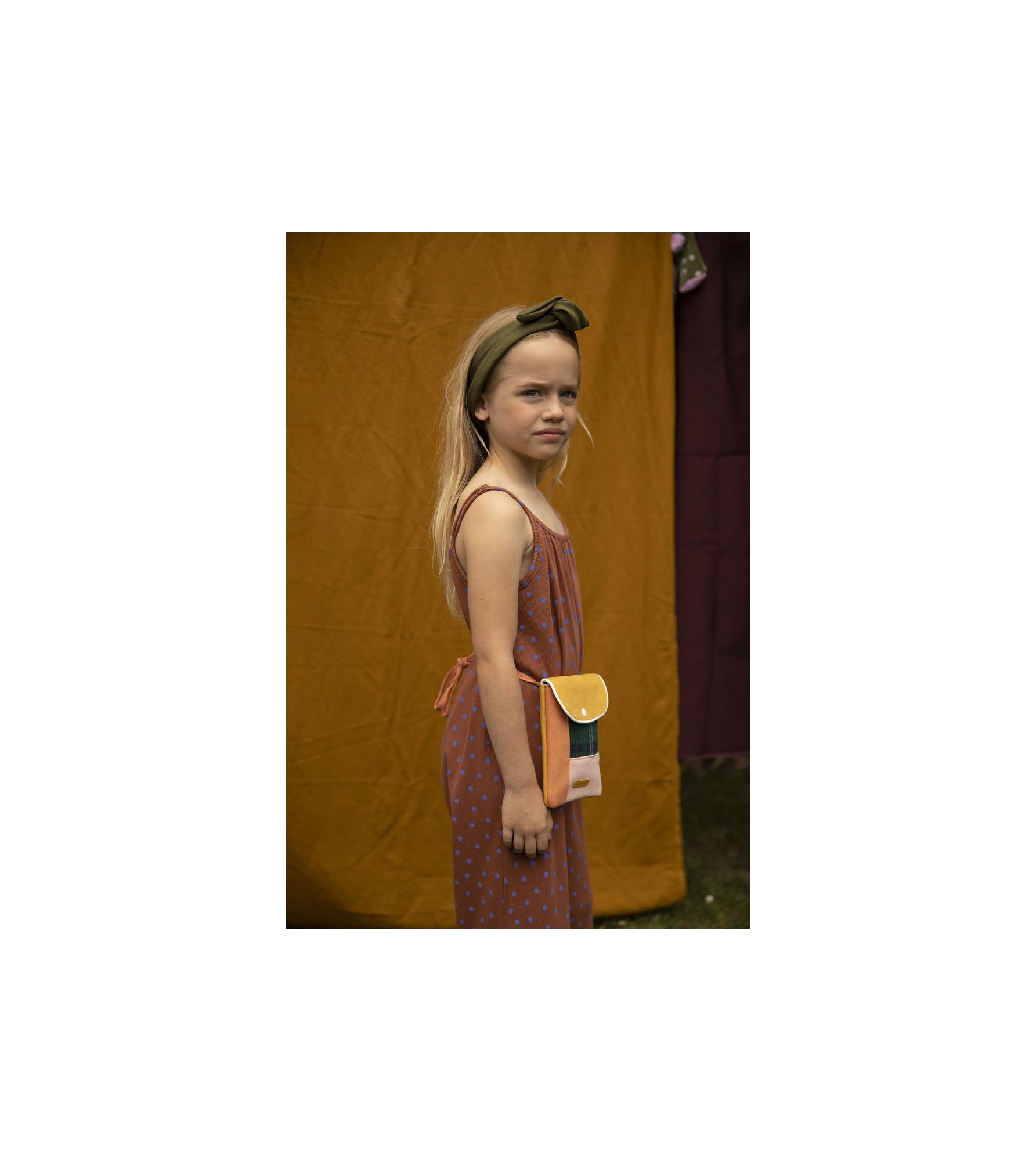 1801678 - Sticky Lemon - wallet bag - wanderer - forest green checks - style shot 01.jpg