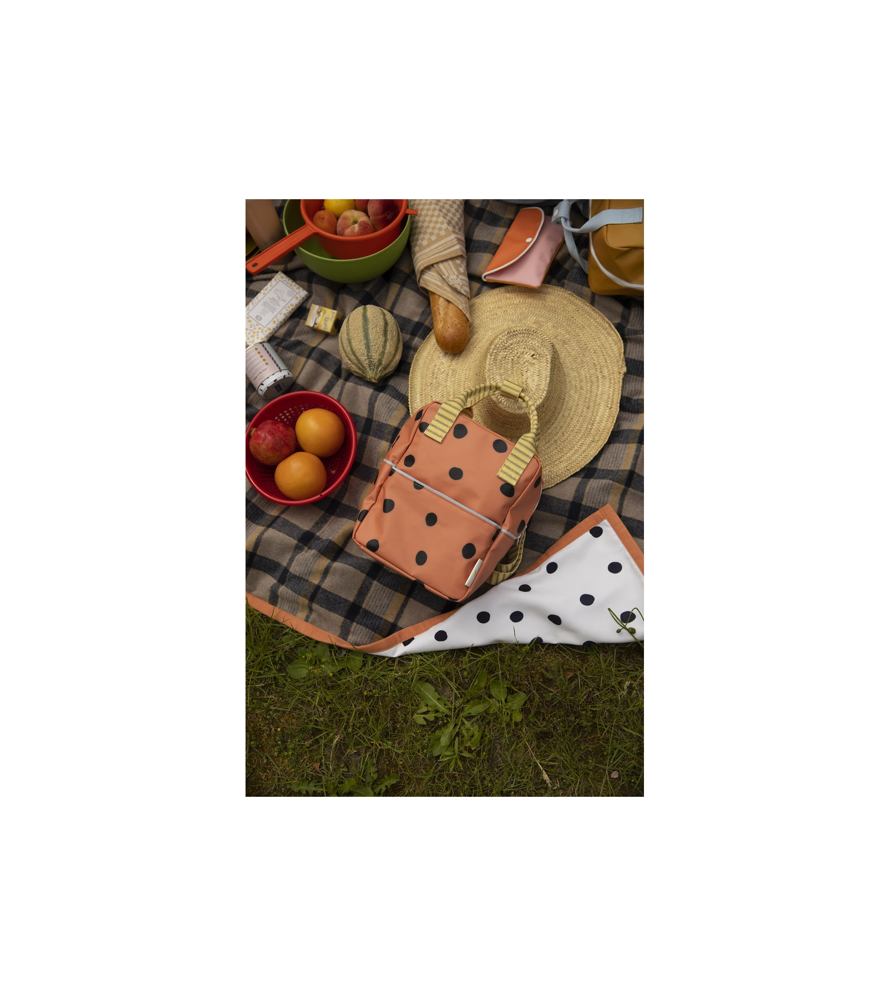 1801770 - Sticky Lemon - picnic blanket - wanderer - sandy beige checks - style shot 05.jpg