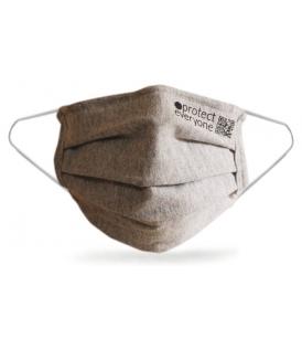 Täiskasvanute mahepuuvillane 3-kihiline korduvkasutatav näomask / hall