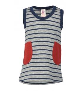 Meriinovillafrotee kleit / hall-sinisetriibuline