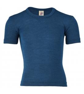 Meriino-siidi lühikeste varrukatega alussärk / sinine