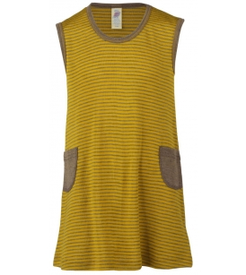 Meriino-siidi kleit / pruuni-safrankollasetriibuline