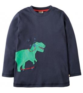 Aplikatsiooniga pluus JOE / dinosaurus