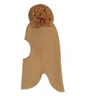Mainio meriinovillane tutiga tuukrimüts / helepruun