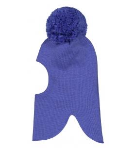 Mainio meriinovillane tutiga tuukrimüts / sinine