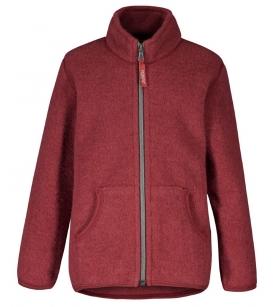 Ruskovilla lukuga villafliisi jakk / punane