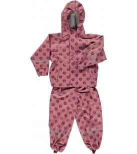 Õuntega vihmakomplekt / roosa