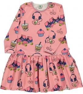Rulluiskudega kleit / roosa