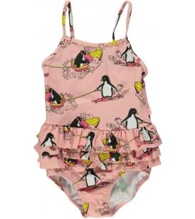 Satside & pingviinimustriga UV50 trikoo / roosa