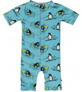 Pingviinimustriga UV50 rannakombe / sinine